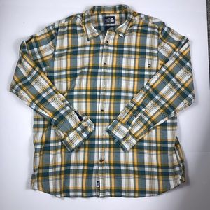 The north face casual button-down shirt size xl